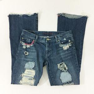 P25 American Eagle Hipster Skinny Flare Denim Jean